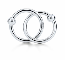 Tiffany & Co. | Item | Tiffany 1837? double teething ring rattle in sterling silver. | United States from tiffany.com